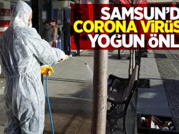 Samsunda corona önlemleri