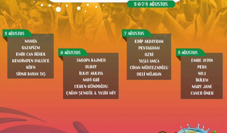 Kuzey Fest, 5-6-7-8 Ağustos 2021'de Sinop'ta