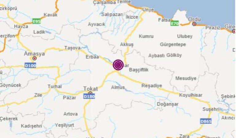 Tokat'ta meydana gelen deprem korkuttu